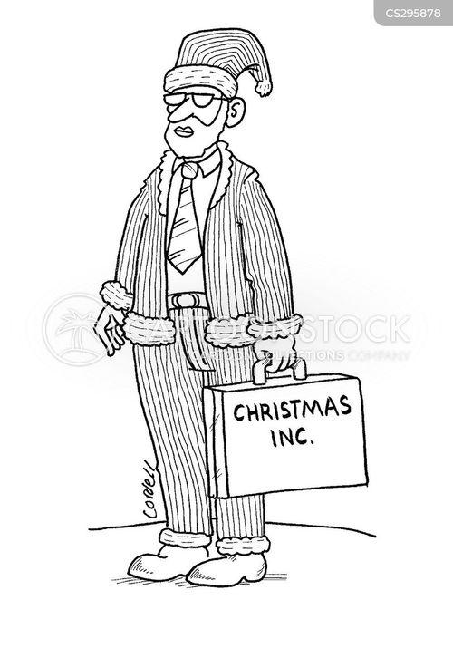 christmas sales cartoon
