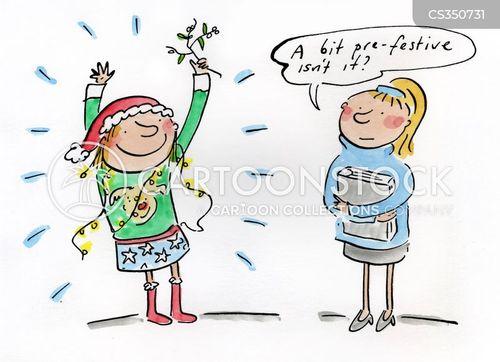 christmas celebration cartoon