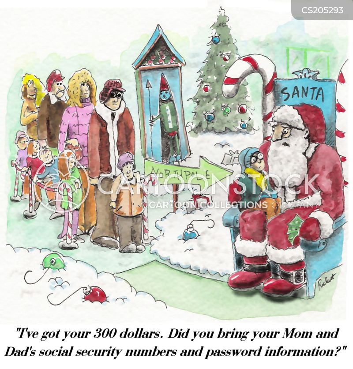 see santa cartoon