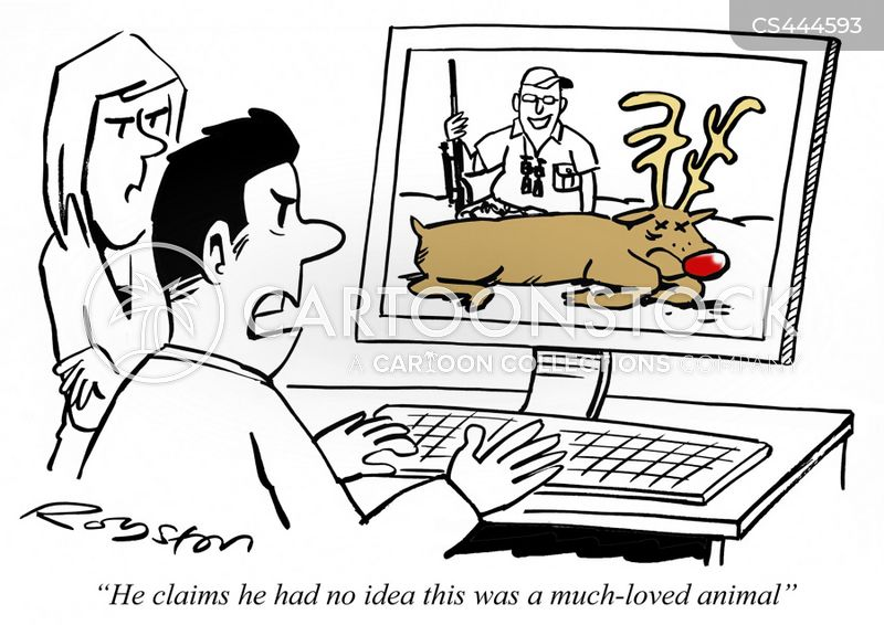 big game hunter cartoon