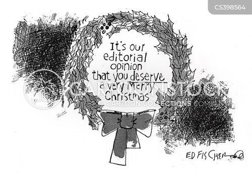 christmas wreath cartoon