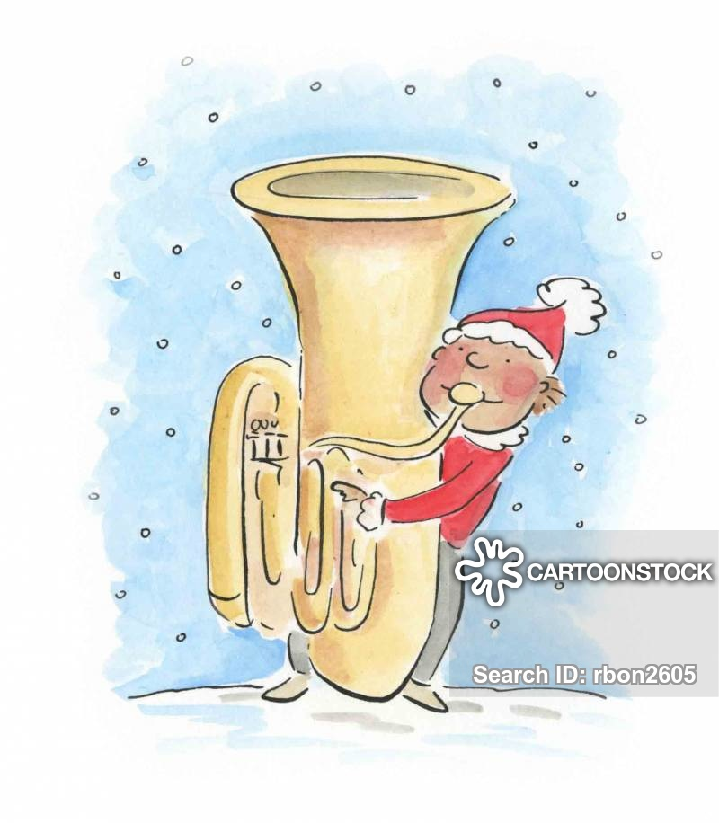 christmas band cartoon
