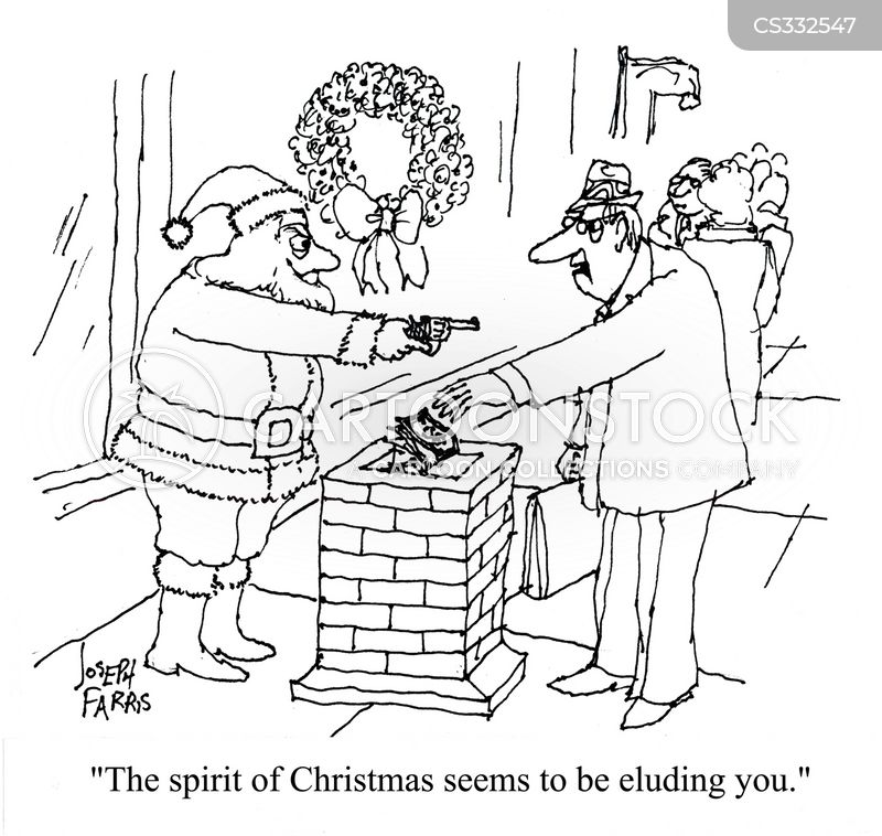 xmas spirits cartoon