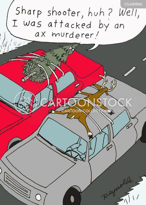 axe murderer cartoon