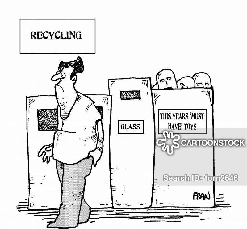 recycling point cartoon