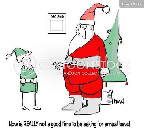 seasonal job cartoon