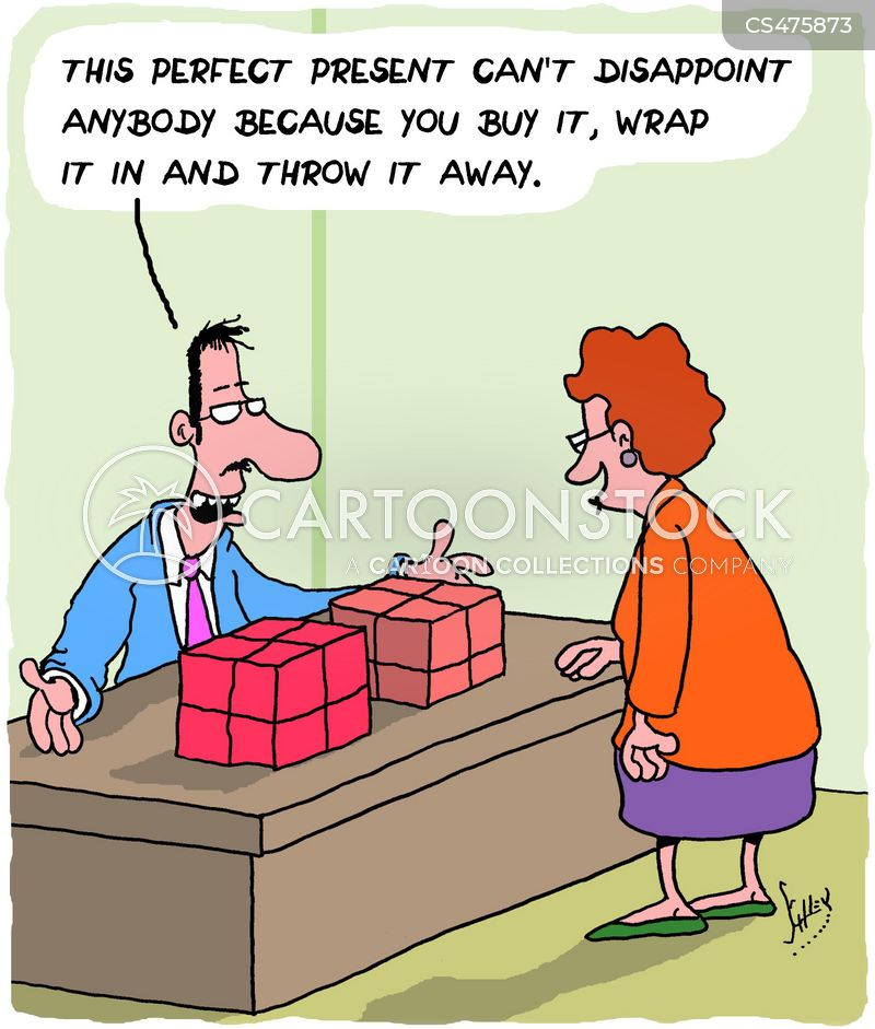 gift wrapping cartoon