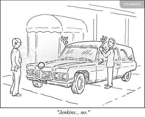 funeral ceremony cartoon
