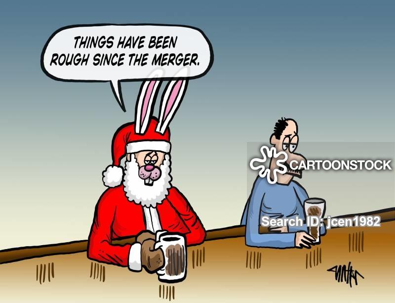 corporate merger cartoon