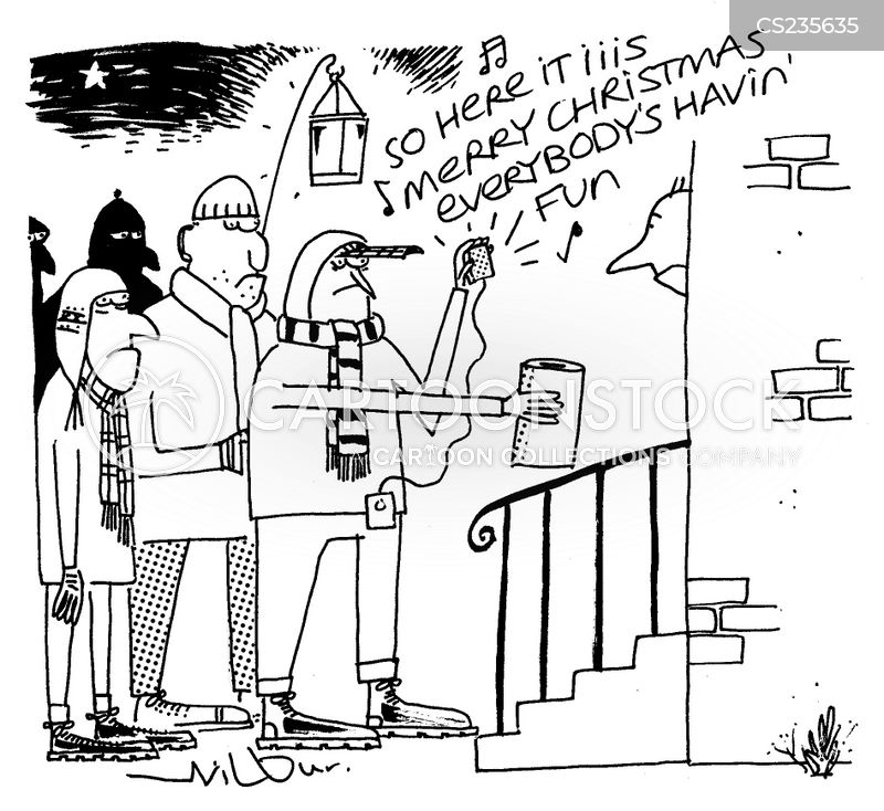 christmas spirits cartoon