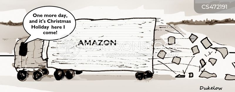 christmas delivery cartoon