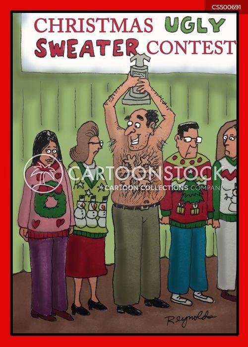 christmas sweater cartoon