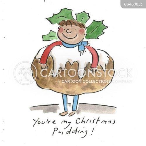 xmas foods cartoon