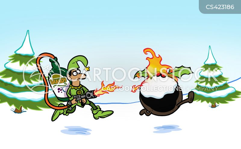 christmas pudding cartoon