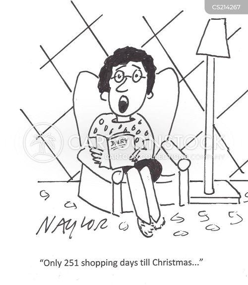shopping days cartoon