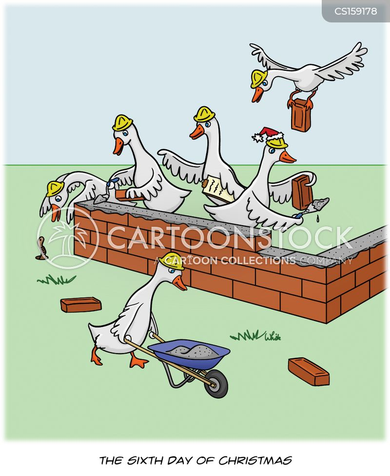 Geese A Laying Cartoons and Comics - funny pictures from CartoonStock