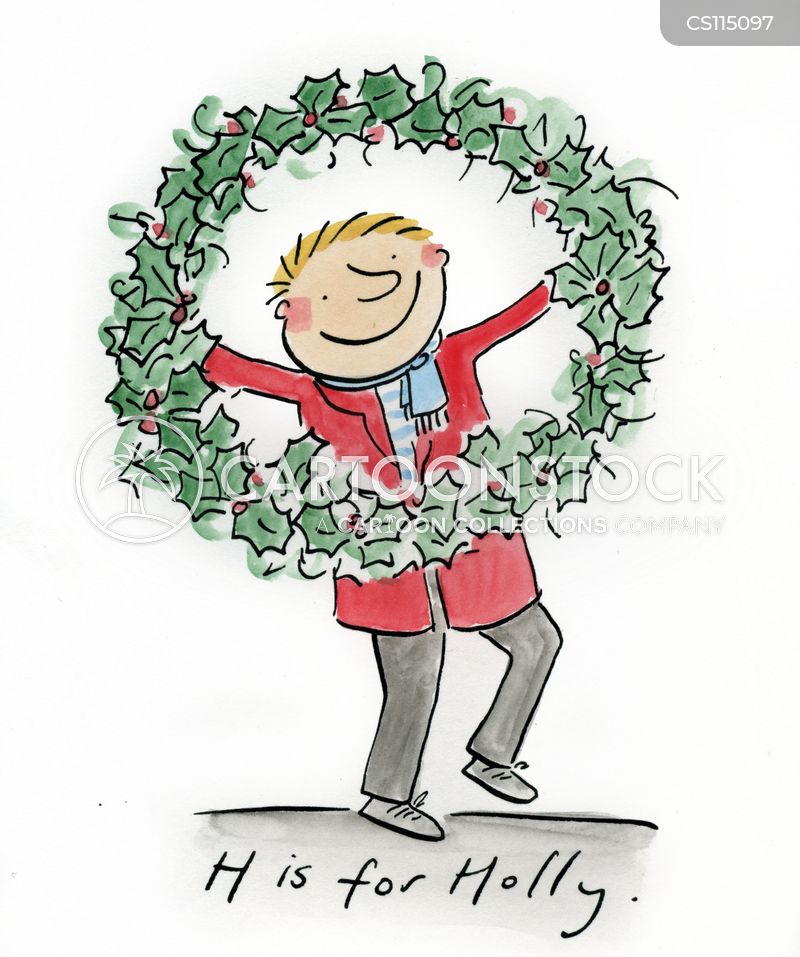 Christmas Wreaths Cartoons And Comics Funny Pictures From Cartoonstock