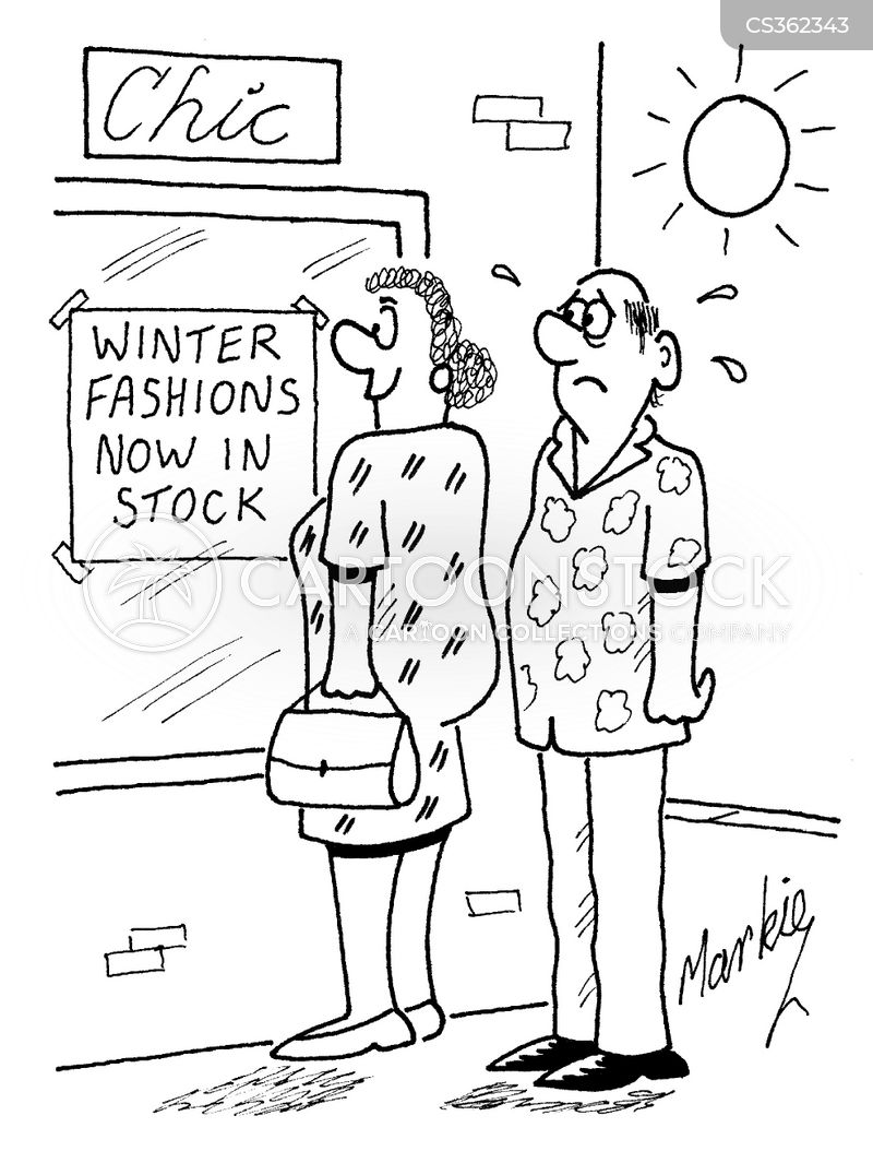 winter fashion cartoon