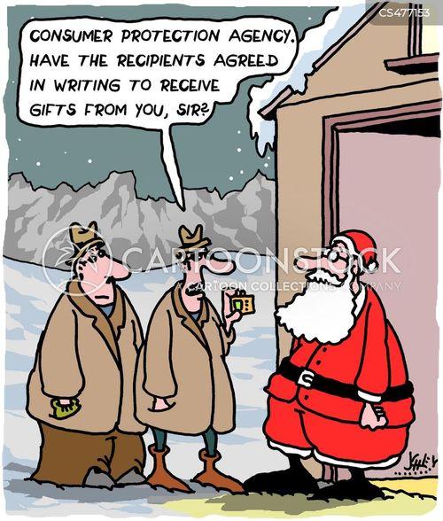 consumer protection cartoon