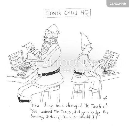 delivery services cartoon