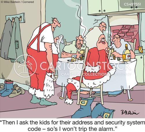 security alarm cartoon