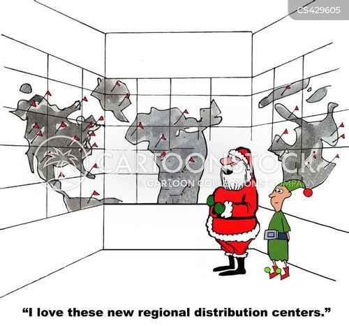 distribution center cartoon