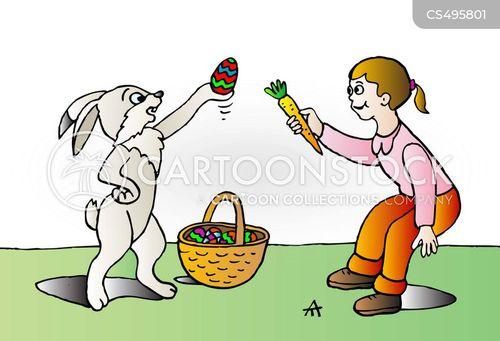 easter baskets cartoon