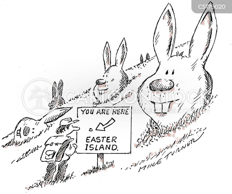 rabbit heads cartoon