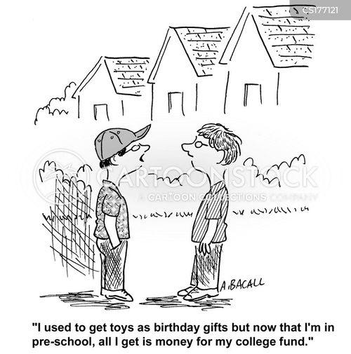 birthday present cartoon