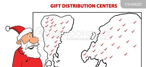 xmas gift cartoon