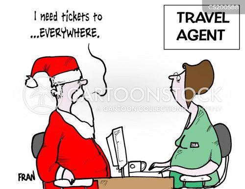 travel plan cartoon
