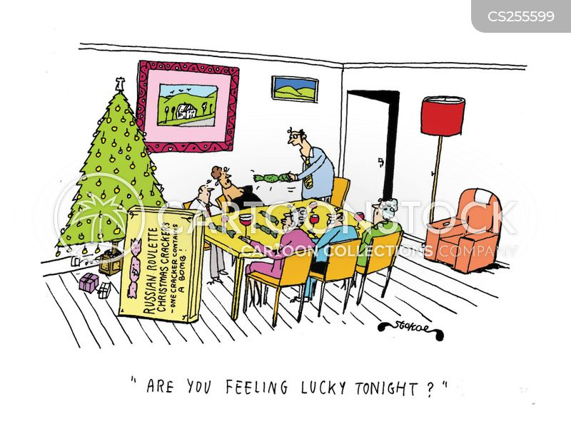 xmas cracker cartoon