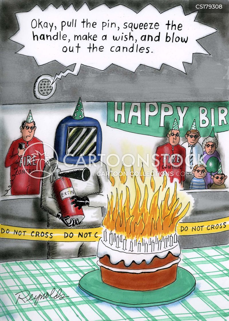 Blowing Out Candles Cartoon 1 Of 3