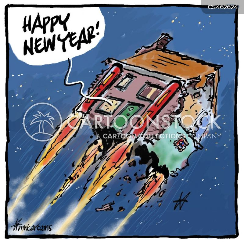 new year eve cartoon