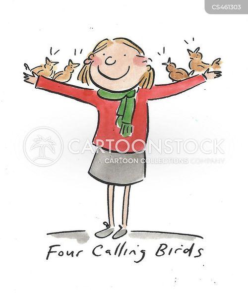 calling bird cartoon