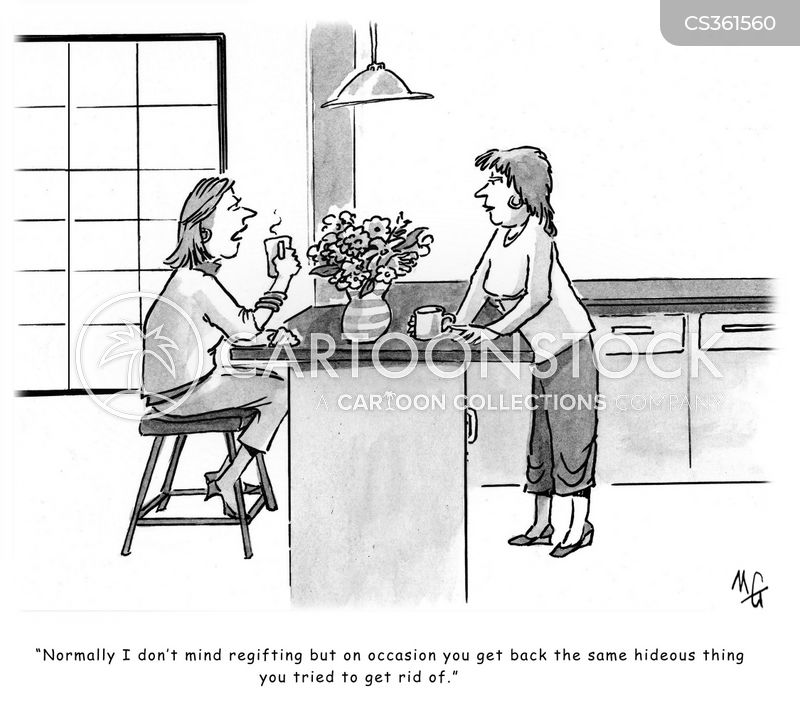 giving gifts cartoon