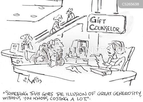 gift counsellor cartoon