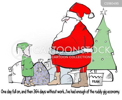 gig economies cartoon