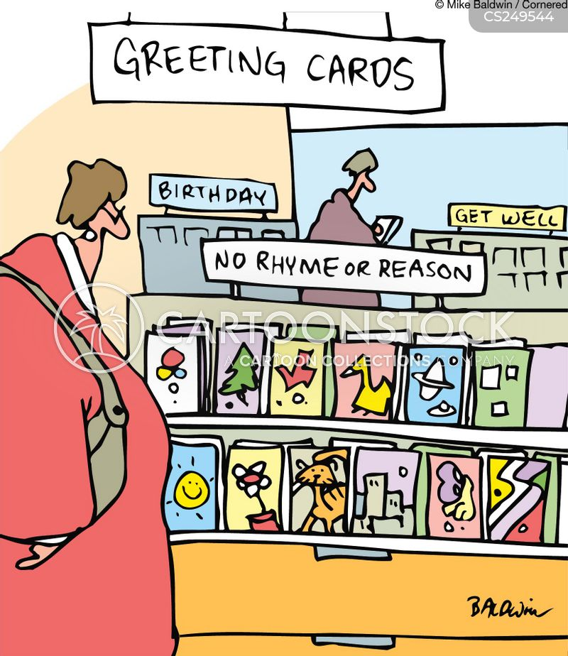 Blank cards cartoons and comics funny pictures from cartoonstock greeting card shop no rhyme or reason cards m4hsunfo