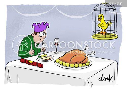 xmas dinner cartoon