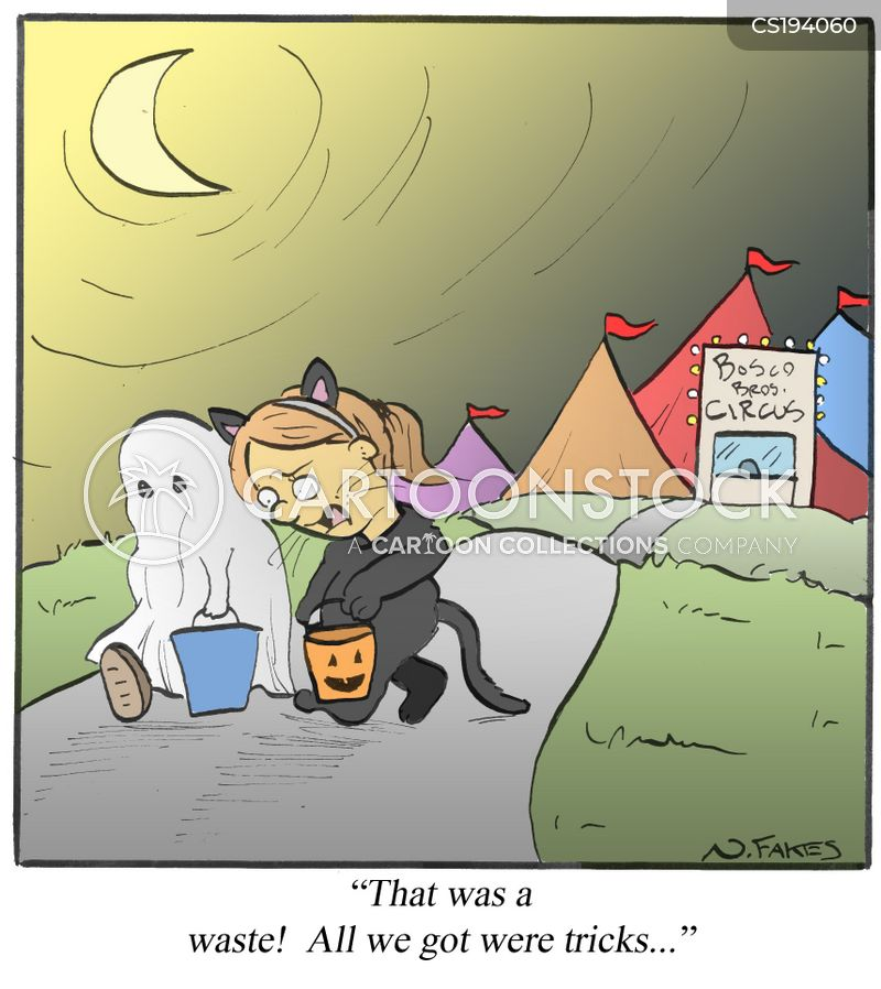 trick-or-treaters cartoon