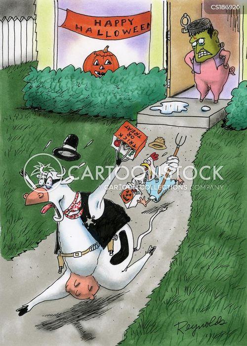 trick or treater cartoon