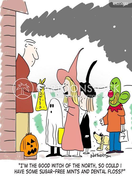 halloween candy cartoon