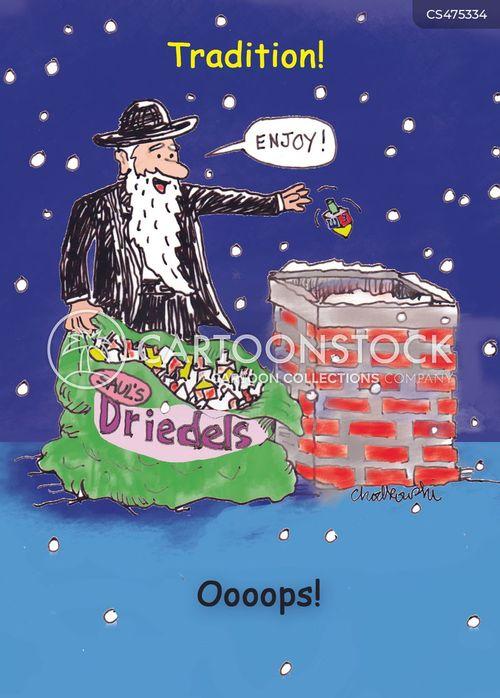 festive traditions cartoon