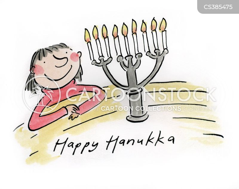 menorahs cartoon