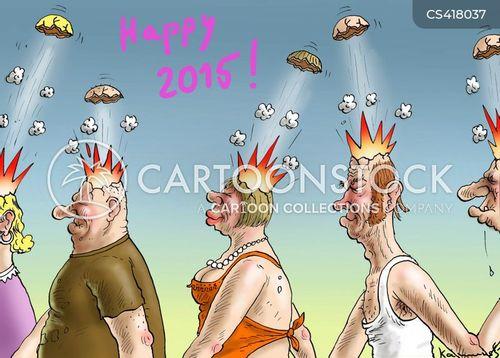 happy 2015 cartoon