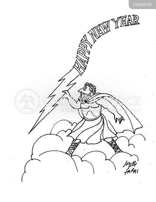 1 january cartoon