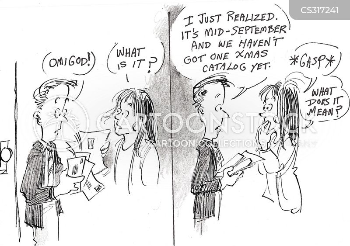 holiday shopping cartoon
