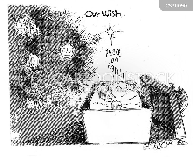 peace on earth cartoon