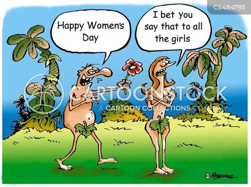 first woman cartoon